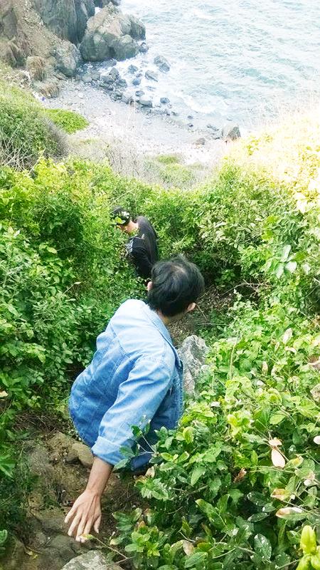 Cảnh hoang sơ của mũi Kê Gà được giới trẻ yêu thích