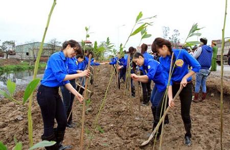 250 đoàn viên, thanh niên được phổ biến kiến thức về ứng phó với biến đổi khí hậu