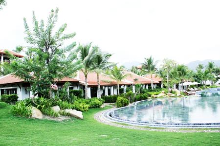 Một góc không gian resort The Anam